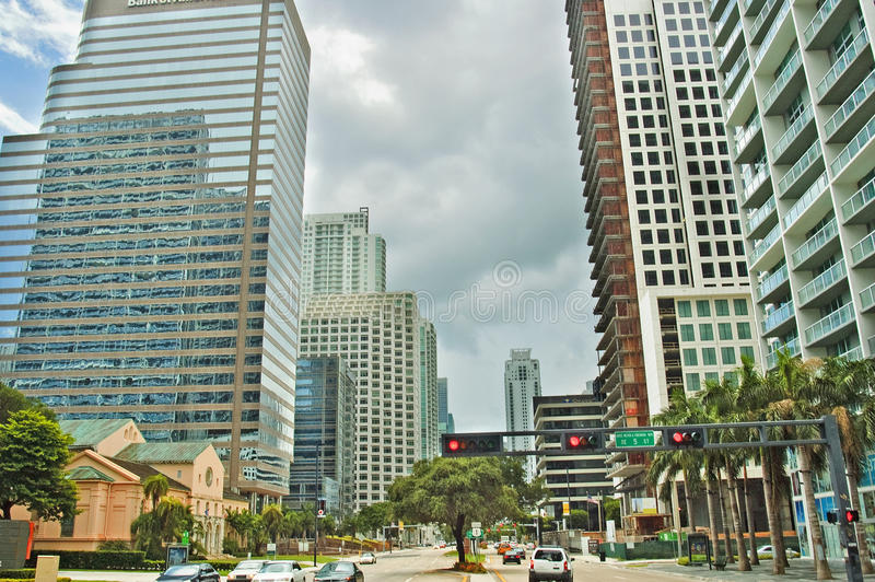 Miami van de binnenstad, Florida, de V.S. stock foto