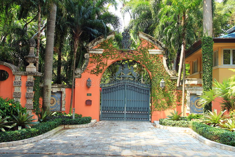 Miami - Vizcaya-Museum und -garten stockfotos