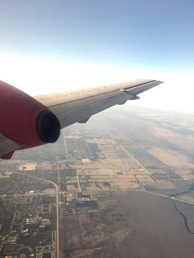 Miami von einem Flugzeug stockbild