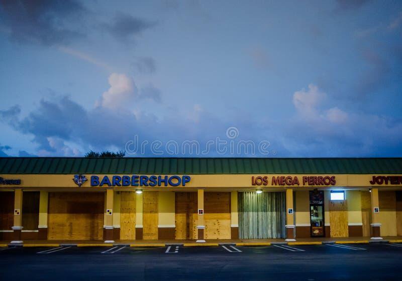 Miami vor Hurrikan Irene stockfotos
