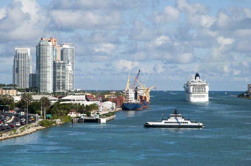 Miami wody brama zdjęcia royalty free