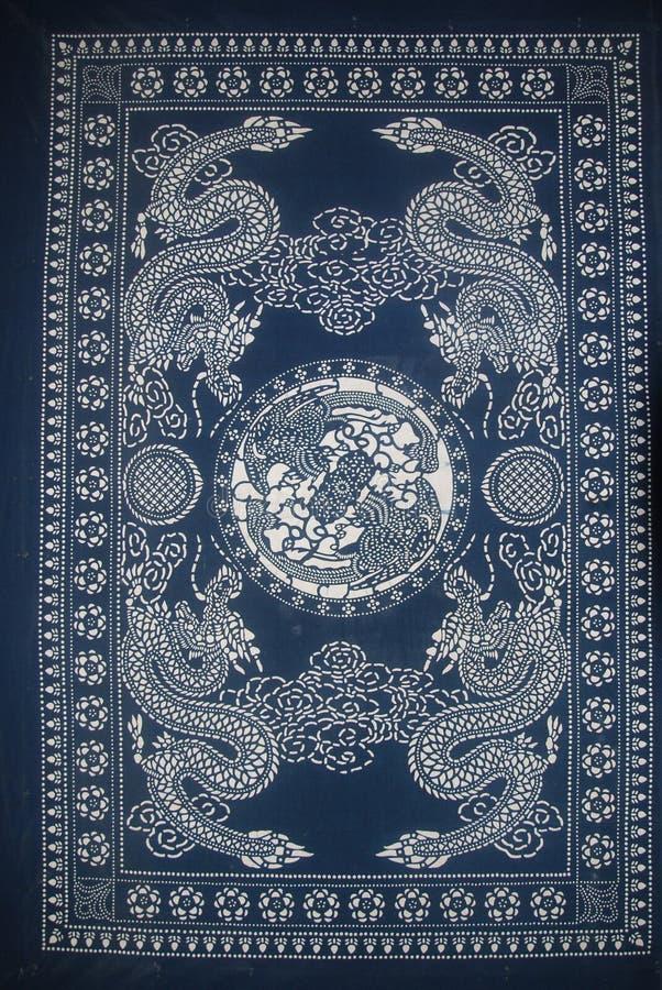 Miao batik China Dragon. China Hunan Zhangjiajie Miao batik stock image