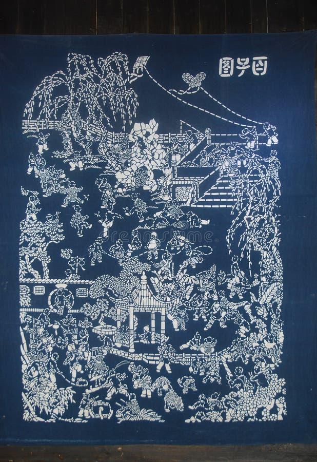 Miao batik market. China Hunan Zhangjiajie Miao batik stock photo