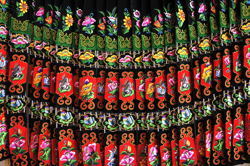 Download Miao nationality skirt stock image. Image of colourful - 27232041