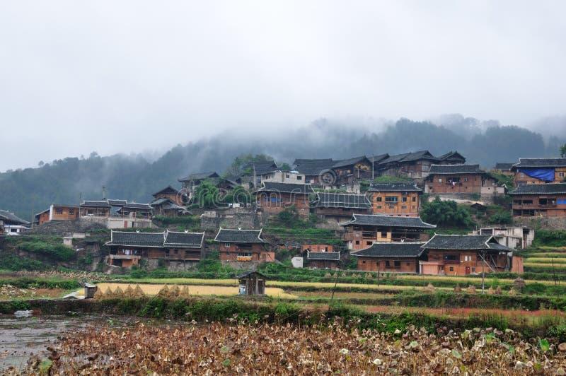 Miao village landscape. Autumn guizhou miao village landscape royalty free stock image