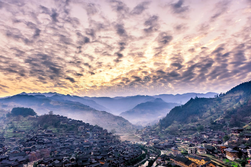 Miao village royalty free stock image