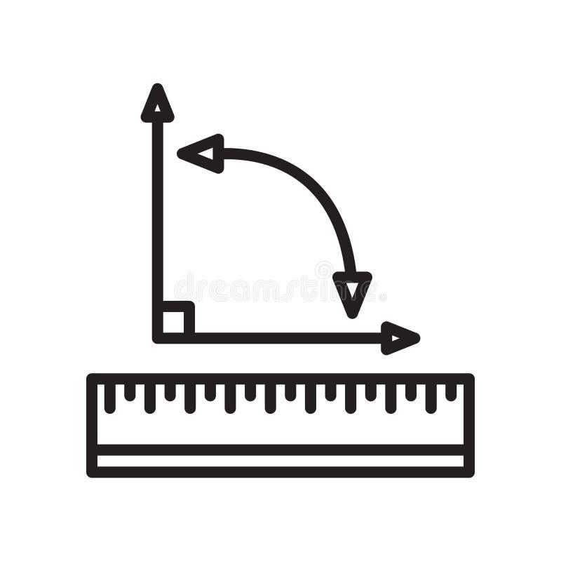 Miara ikona wektoru znaka i symbol odizolowywający na białym tle ilustracji