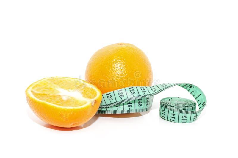 miara pomarańczowej taśmy zdjęcie royalty free