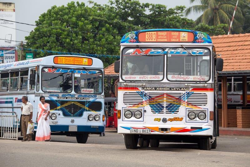 Miarowy jawny autobus od Hikkaduwa Galle w Sri Lanka zdjęcie stock