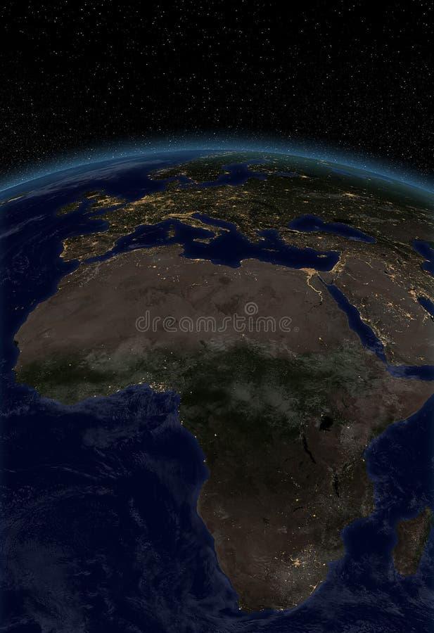 Miast światła - Afryka Europa ilustracji