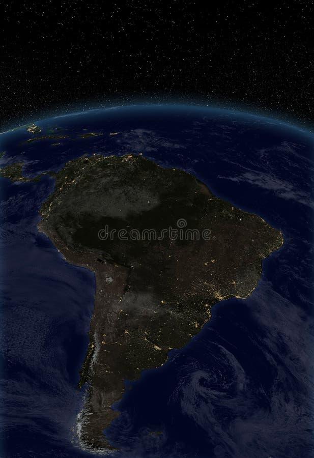 Miast światła - Ameryka Południowa ilustracja wektor