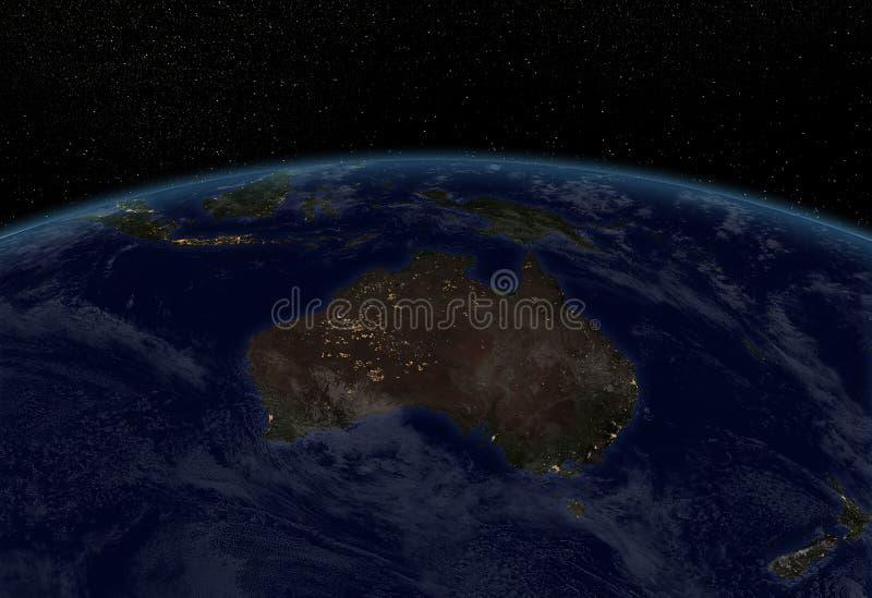 Miast światła - Australia ilustracji