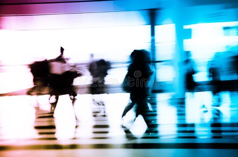 miast abstrakcjonistyczni biznesowi ludzie zdjęcia stock