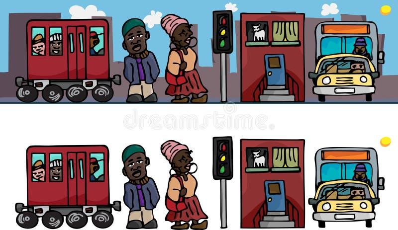 miast ludzie royalty ilustracja