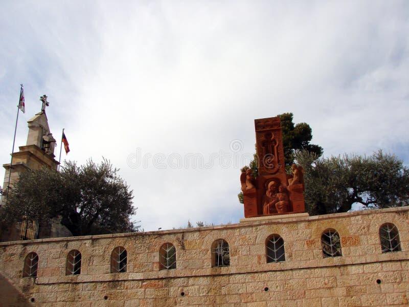 Miasta †‹â€ ‹Jerozolima Izrael Panorama religijna architektura stara część miasto zdjęcia stock