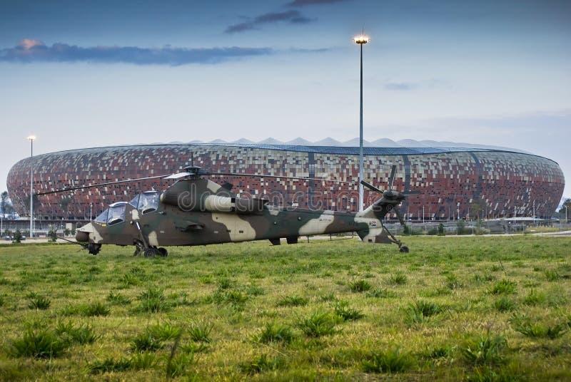 miasta śmigłowcowa rooivalk piłka nożna obraz royalty free