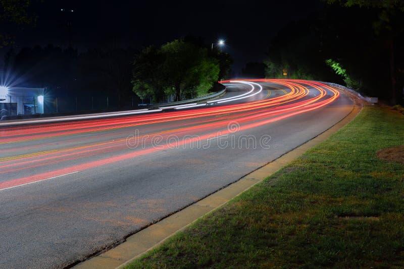 Miasta światła ślada zdjęcia stock