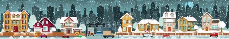 Miasta życia zima ilustracja wektor