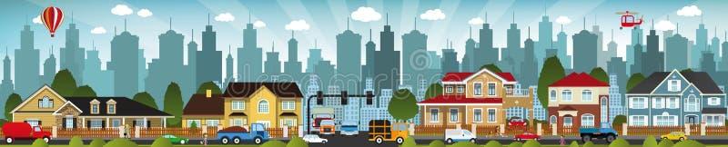 Miasta życie ilustracja wektor