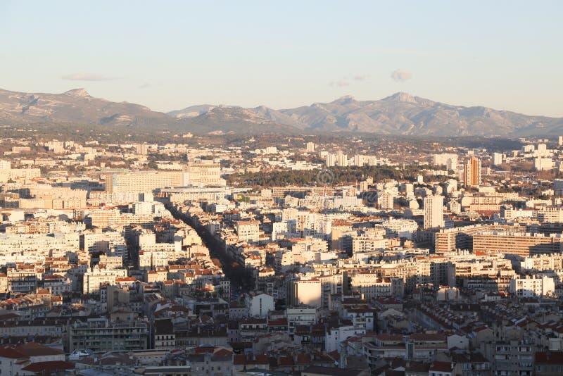 Miasta airview mapa w Marseilles zdjęcia stock