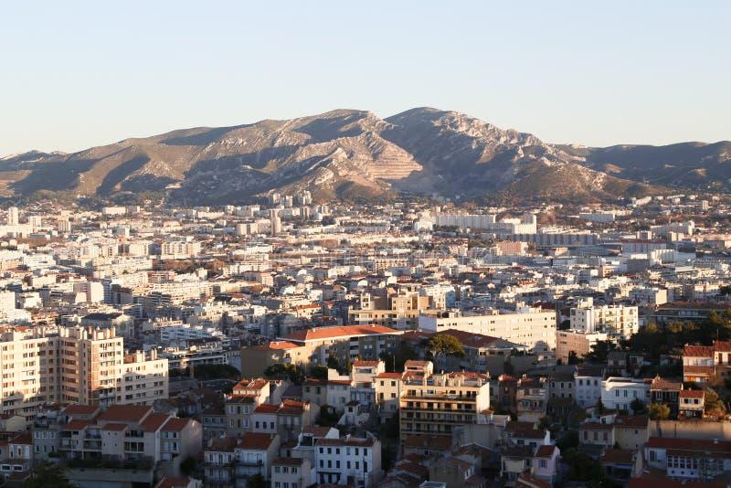 Miasta airview mapa w Marseilles zdjęcie royalty free