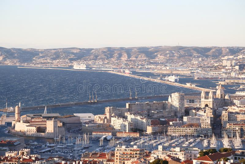 Miasta airview mapa w Marseilles obrazy stock