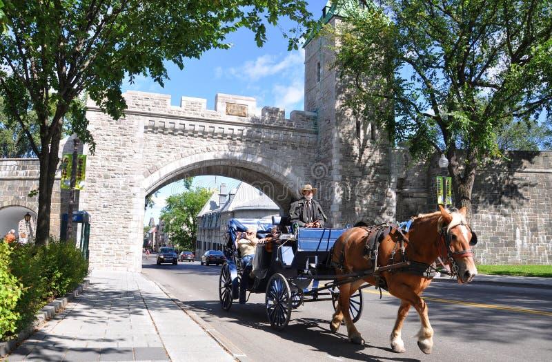 miasta bramy ludwika Quebec st fotografia stock