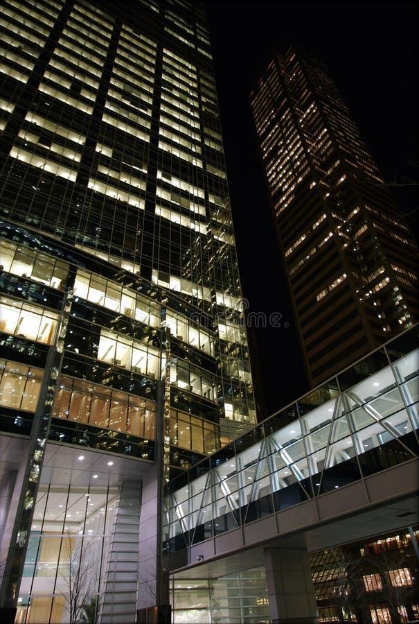 Miasta budynków noc fotografia royalty free