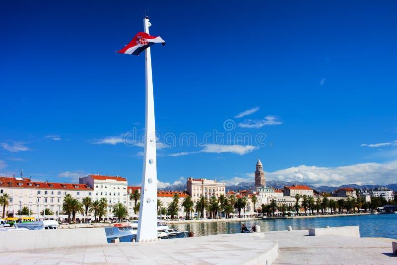 miasta Croatia rozłam fotografia stock