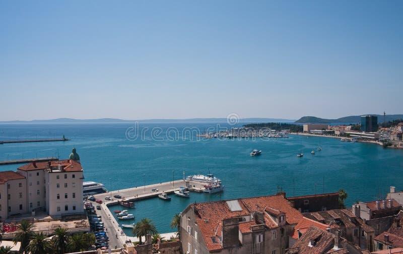 miasta Croatia rozszczepiony widok zdjęcia royalty free