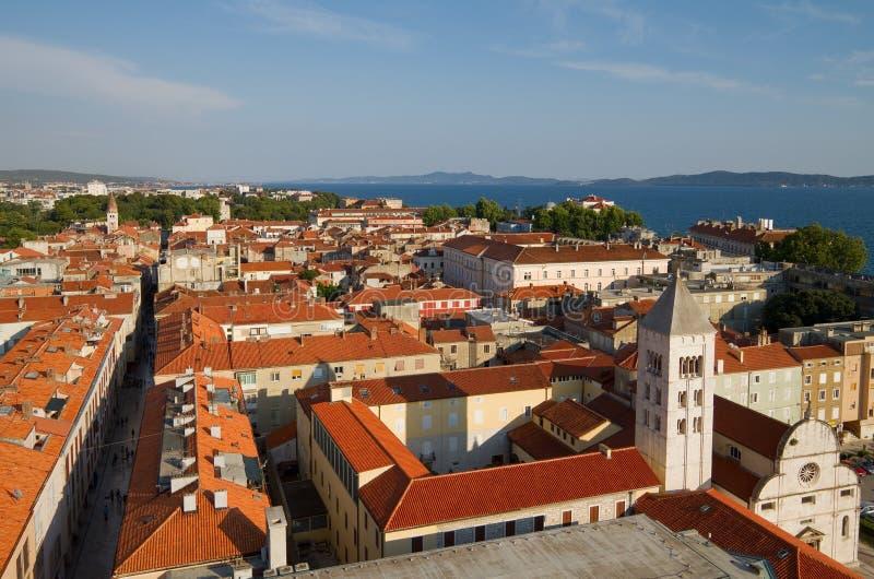 miasta Croatia widok zadar zdjęcie royalty free