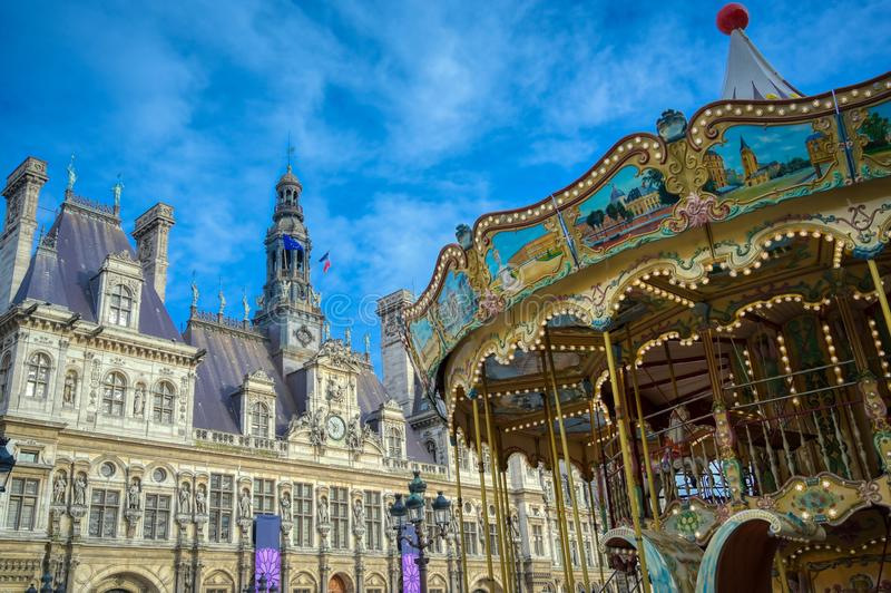 miasta de France sala hotelowy Paris ville fotografia royalty free