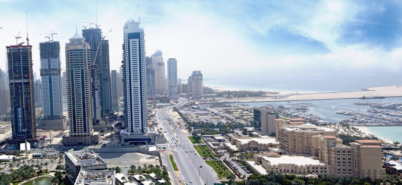 miasta Dubai hotelowy medialny westin obraz stock
