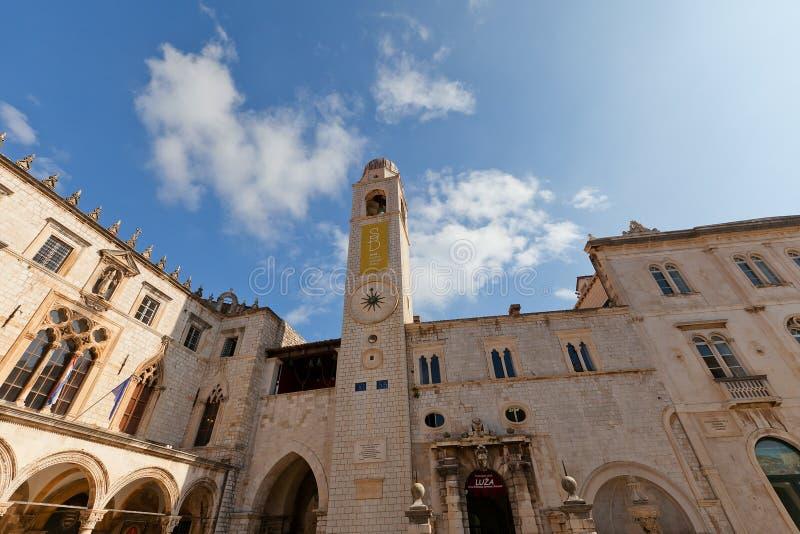 Miasta Dzwonkowy wierza w Dubrovnik, Chorwacja (1444) Unesco miejsce zdjęcia royalty free