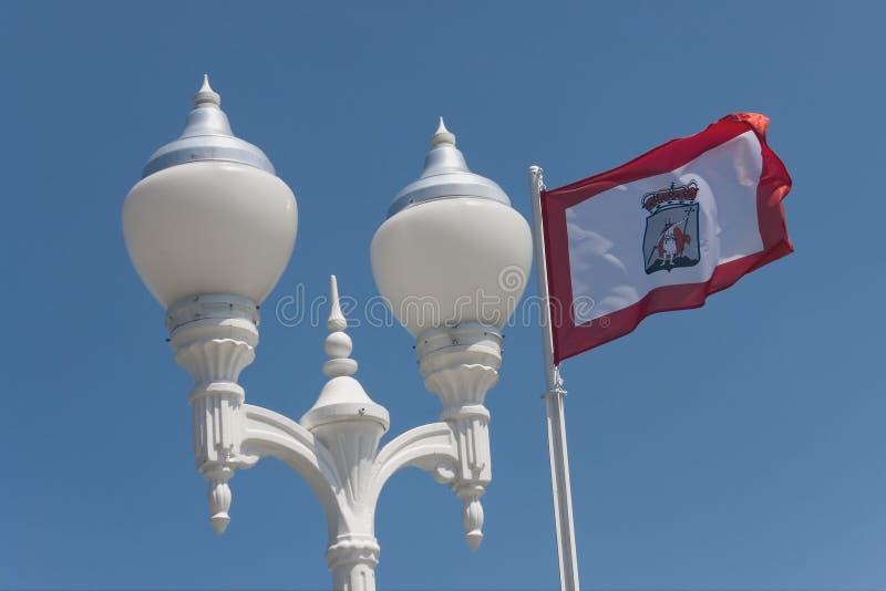 miasta Gijon lamp fotografia stock