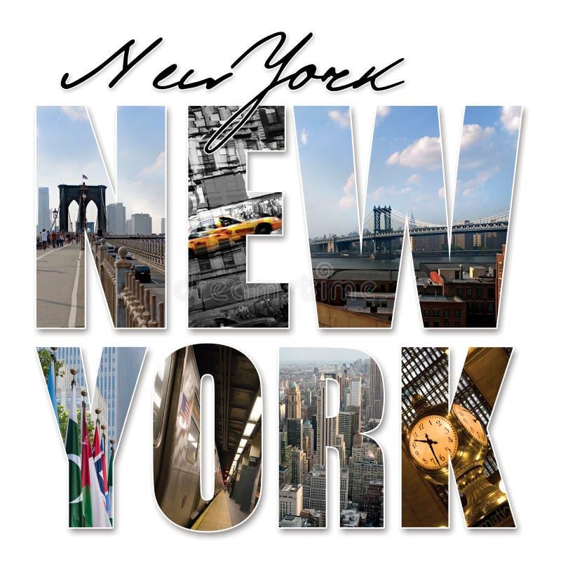 miasta graficznego montażu nowy nyc York ilustracji