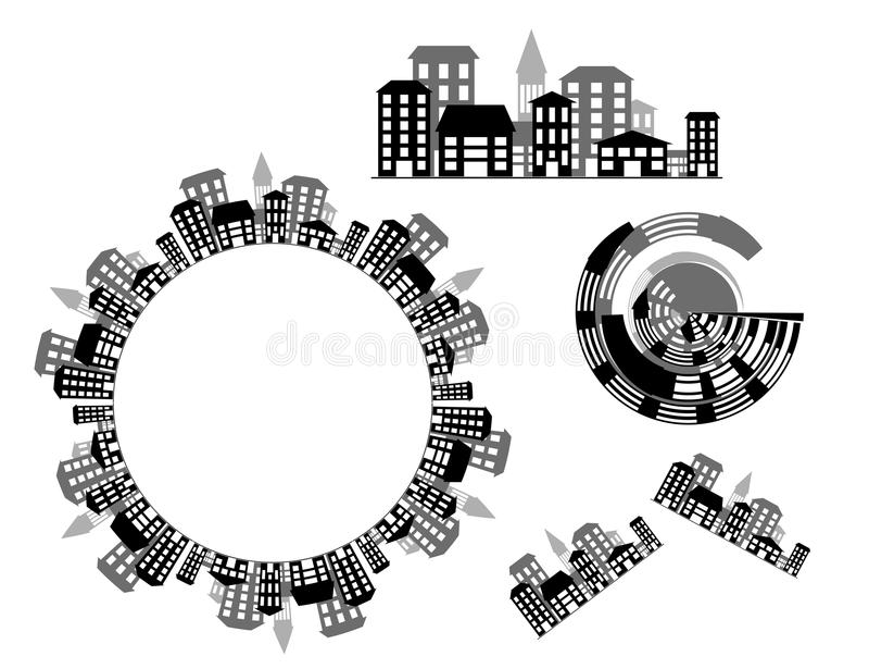 miasta grafika wektor royalty ilustracja