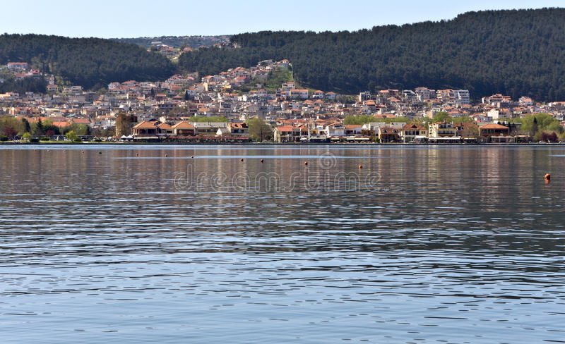 miasta Greece Ioannina jezioro zdjęcie stock