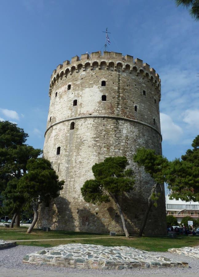 miasta Greece Thessaloniki basztowy biel fotografia royalty free