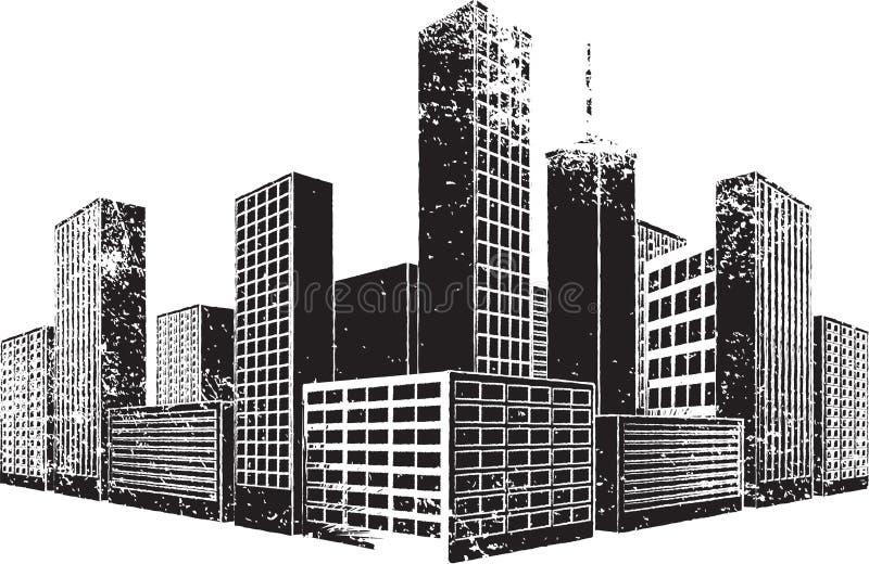 miasta grunge ilustracja wektor
