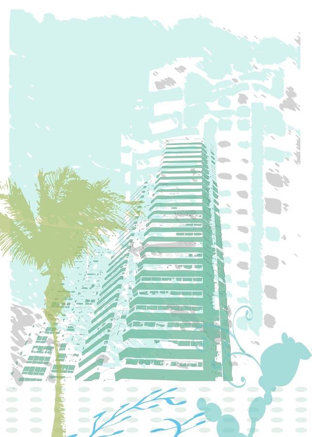 miasta grunge pogodny ilustracja wektor