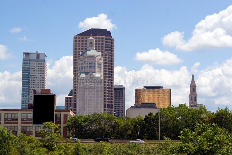 miasta Hartford linia horyzontu zdjęcia stock