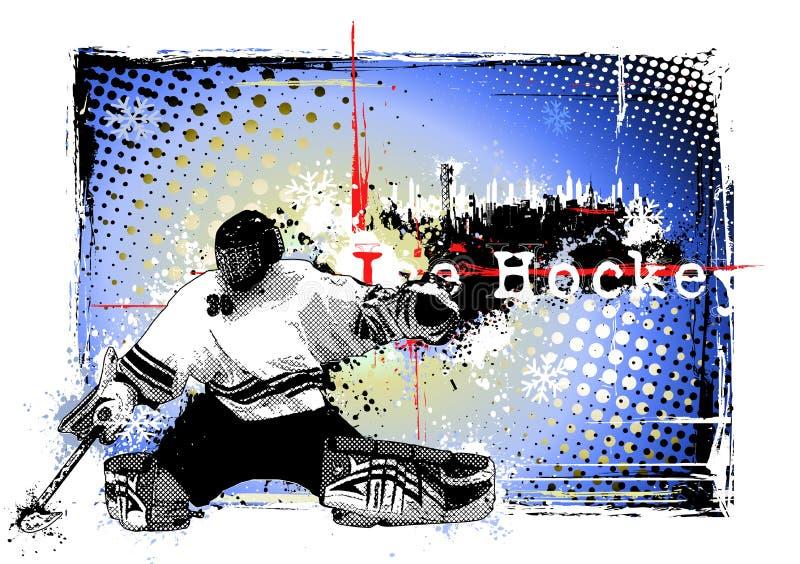 miasta hokeja lód royalty ilustracja