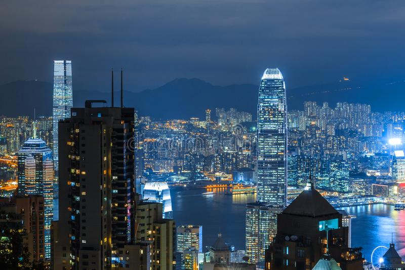 miasta Hong kong widok obrazy stock