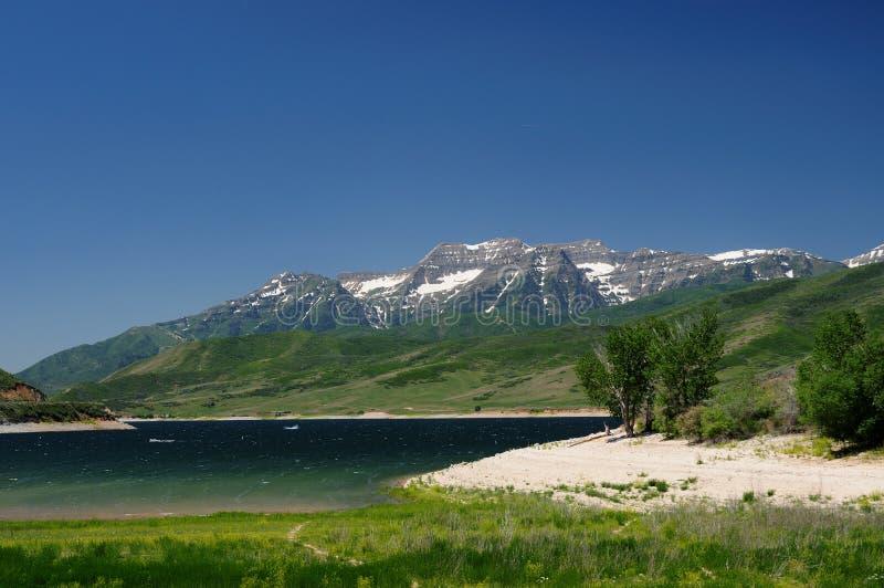 miasta jeziorna gór sól fotografia royalty free