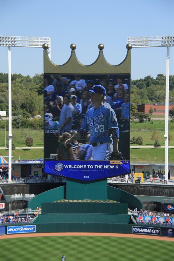 miasta Kansas kauffman royals stadium fotografia royalty free