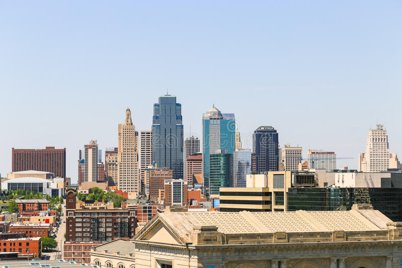 miasta Kansas linia horyzontu zdjęcia stock