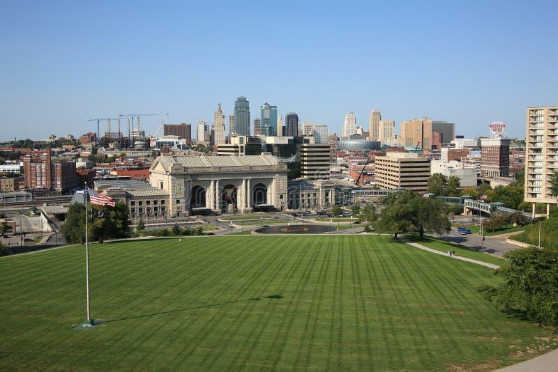miasta Kansas linia horyzontu staci zjednoczenie fotografia stock