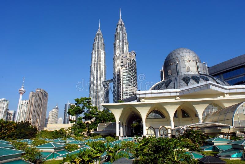 miasta Kuala Lumpur linia horyzontu obraz royalty free