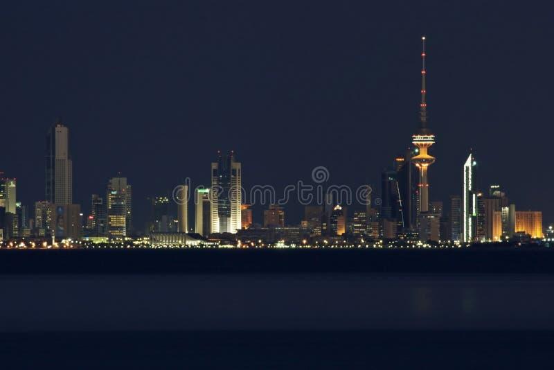 miasta Kuwait linia horyzontu zdjęcie royalty free